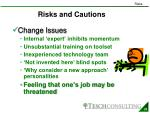 risks and cautions1