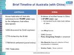 brief timeline of australia with china
