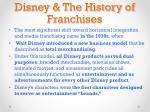 disney the history of franchises