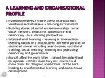 a learning and organisational profile