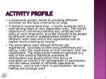 activity profile