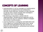 concepts of learning