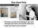 one hand rule