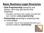 basic business legal structures