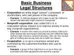 basic business legal structures1