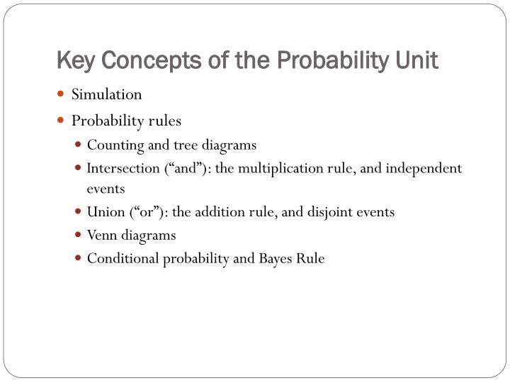 PPT - Key Concepts of the Probability Unit PowerPoint Presentation ...