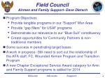 field council airmen and family support dave dietsch