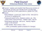 field council e business website peter jones