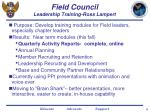 field council leadership training ross lampert