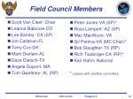 field council members