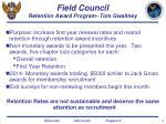 field council retention award program tom gwaltney