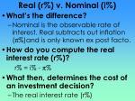 real r v nominal i