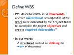 define wbs