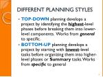 different planning styles