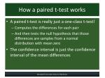 how a paired t test works
