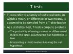 t tests