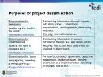 purposes of project dissemination