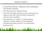 asbestos update 1