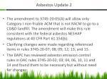 asbestos update 2
