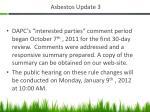 asbestos update 3