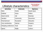 lifestyle characteristics