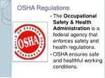 osha regulations