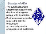 statutes of ada