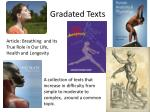 gradated texts