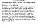 instructional shifts implementation of the common core state standards1