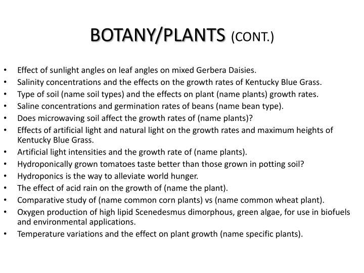 BOTANY/PLANTS