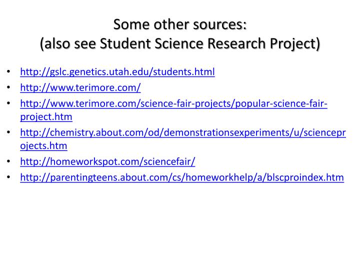 Some other sources: