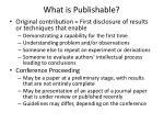 what is publishable