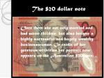 the 20 dollar note