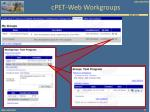 cpet web workgroups