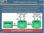 csdr systems overview