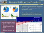 dashboard reporting compliance