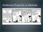 conference proposals or abstracts