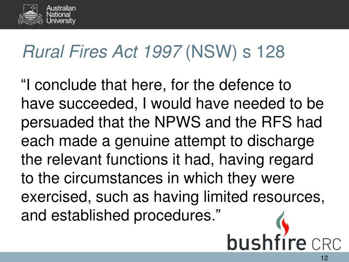 Rural Fires Act 1997