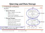 querying and data storage