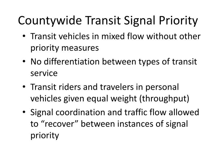 Countywide Transit Signal Priority
