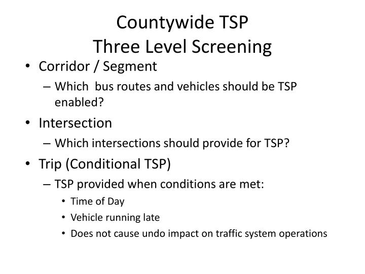 Countywide TSP