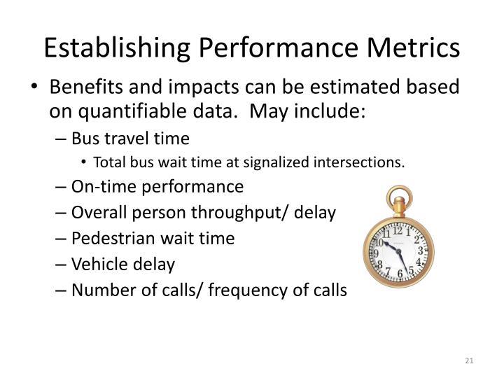 Establishing Performance Metrics