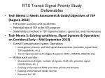 rts transit signal priority study deliverables