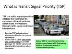 what is transit signal priority tsp
