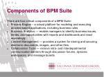 components of bpm suite
