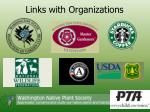 links with organizations