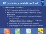 aft increasing availability of food