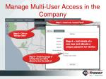 manage multi user access in the company