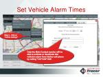 set vehicle alarm times