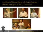 highlights of florida motorcycle safety coalition meeting on august 24 and 25 continued1